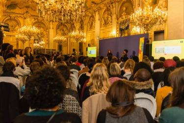 Chimamanda Adichie in conversation with Caroline Broue at 'La Nuit des Idees' in France